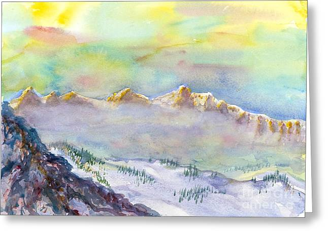 View From Snowbird Greeting Card