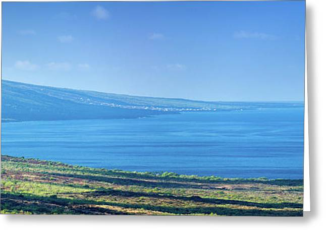 View From South Kona With Mauna Loa Greeting Card by Panoramic Images