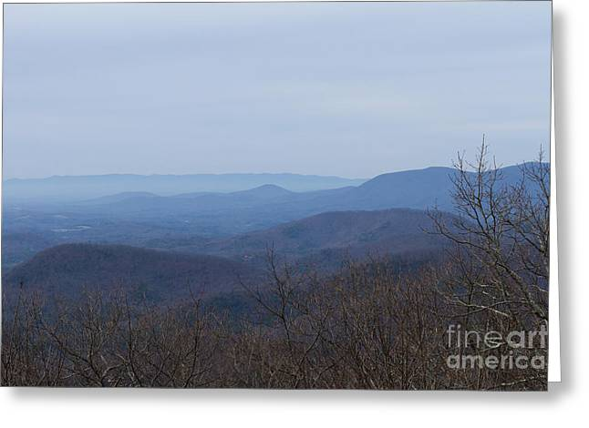 View From Springer Mountain Greeting Card by Paul Rebmann