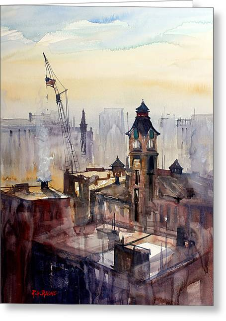 View From The 14th Floor - Milwaukee Greeting Card by Ryan Radke