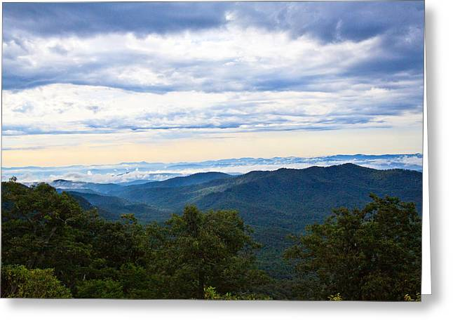 View From The Blue Ridge Parkway Greeting Card by Mela Luna
