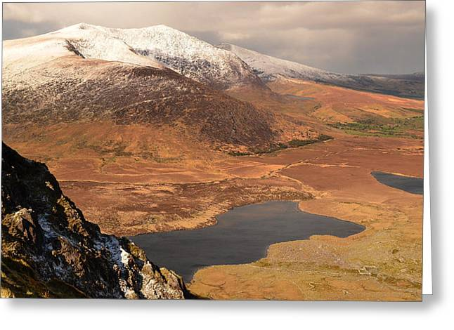 View From The Connor Pass Greeting Card by Barbara Walsh