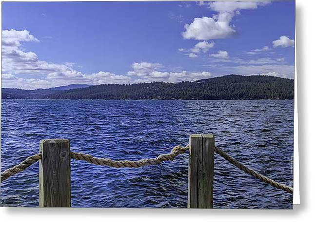 View From The Dock Greeting Card by Nancy Marie Ricketts