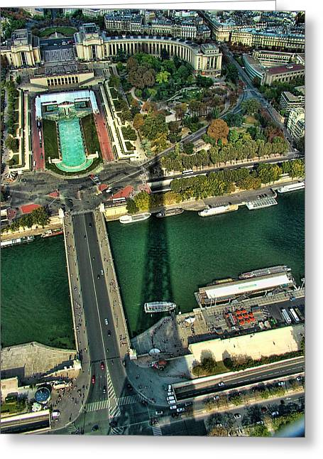 View From The Eiffel Tower Greeting Card