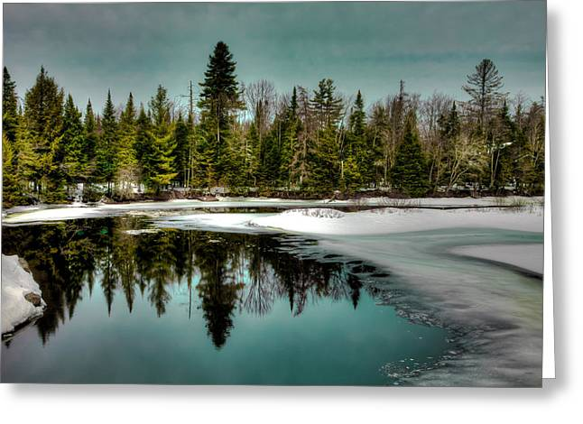 View From The Green Bridge - Old Forge New York Greeting Card by David Patterson