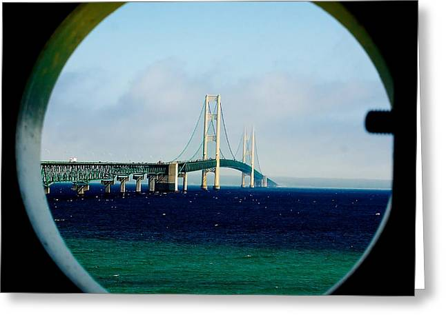 View From The Mackinac Light Greeting Card