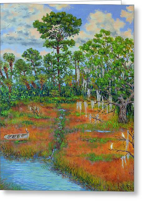 View From The Marsh Greeting Card by Dwain Ray