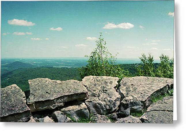 View From The Pinnacle Greeting Card by Panoramic Images
