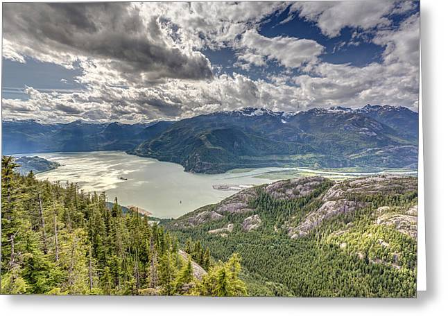 View From The Sea To Sky Gondola Greeting Card