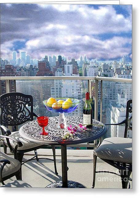 View From The Terrace Greeting Card by Madeline Ellis