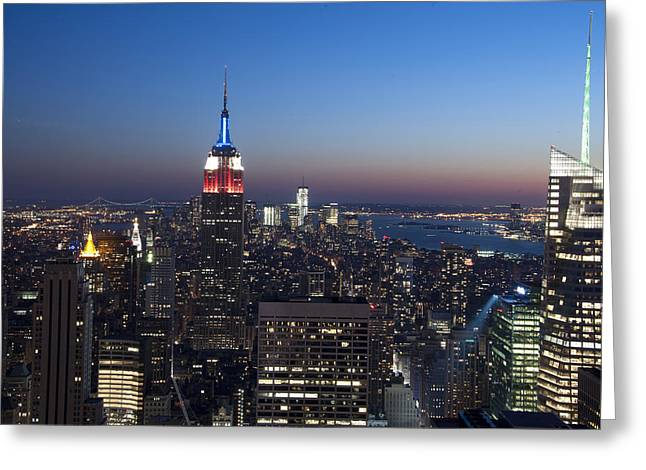 View From The Top Of The Rock Greeting Card