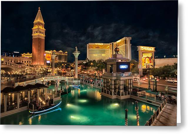 View From The Venetian Greeting Card