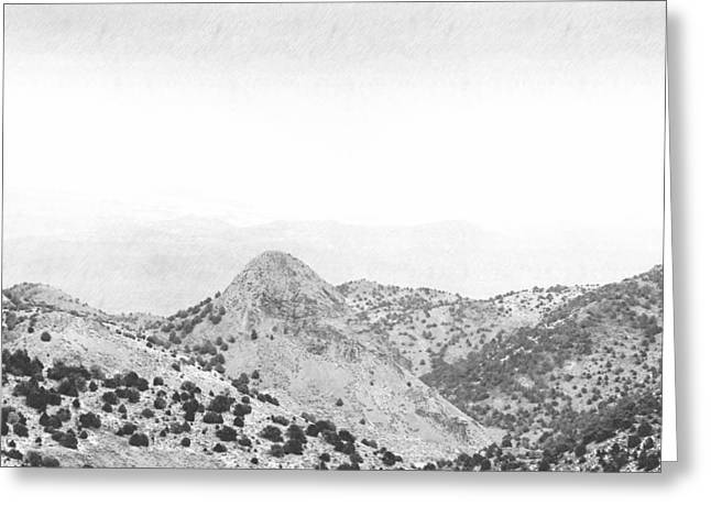 View From Virginia City Nevada Greeting Card