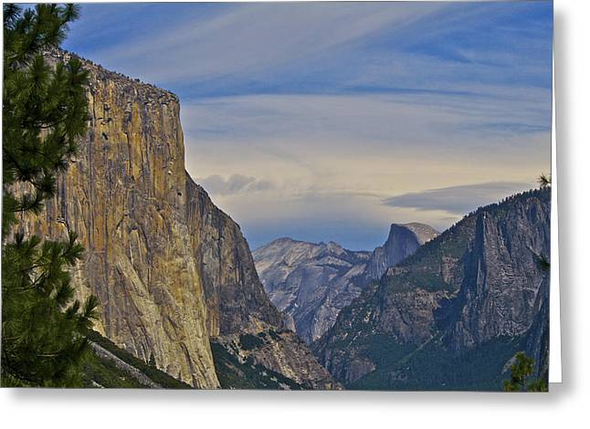 View From Wawona Tunnel Greeting Card