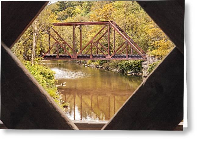 View From Worrall Covered Bridge Greeting Card
