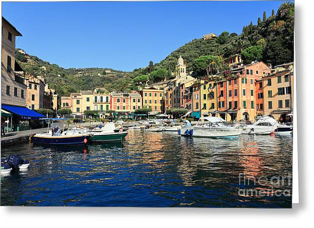 view in Portofino Greeting Card by Antonio Scarpi