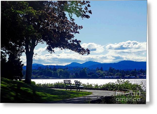 View In Victoria B C Canada Greeting Card
