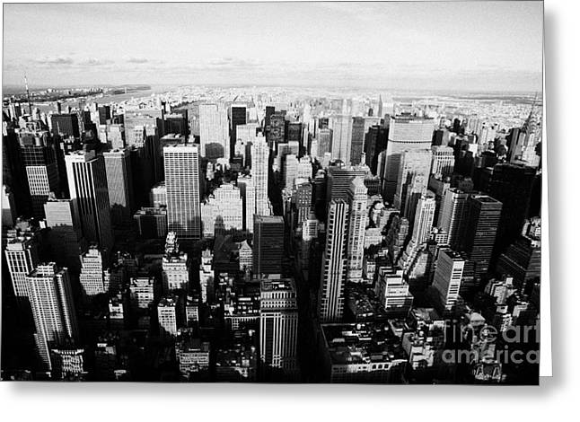 View North Towards Central Park From New York City Usa Greeting Card