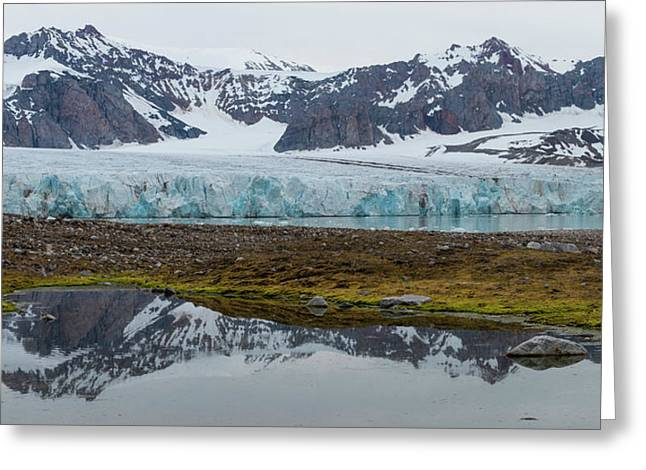 View Of 14th July Glacier, Spitsbergen Greeting Card