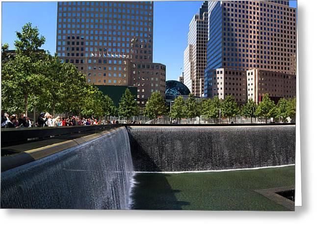 View Of 911 Memorial, Manhattan, New Greeting Card