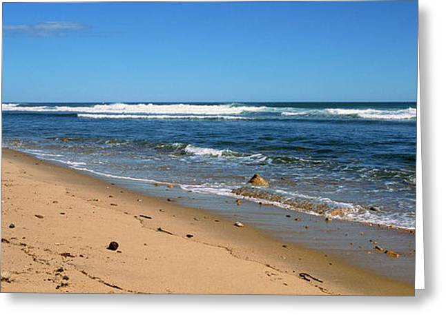 View Of A Beach, Montauk Point Greeting Card by Panoramic Images