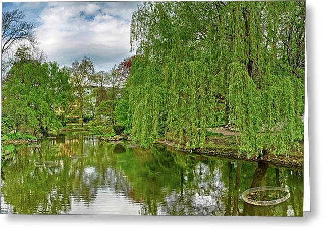 View Of A Botanical Garden, Krakow Greeting Card