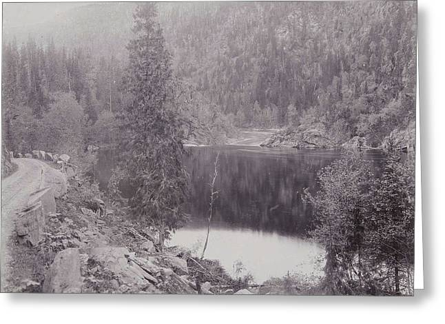 View Of A Lake In A Mountain Landscape Norway Greeting Card