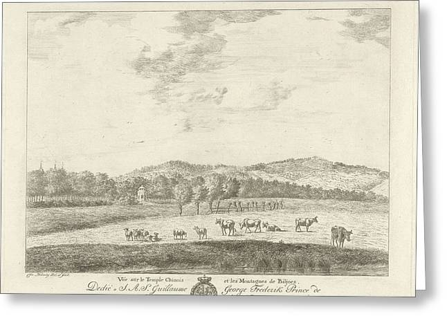 View Of A Landscape, Biljoen, Print Maker Christian Henning Greeting Card