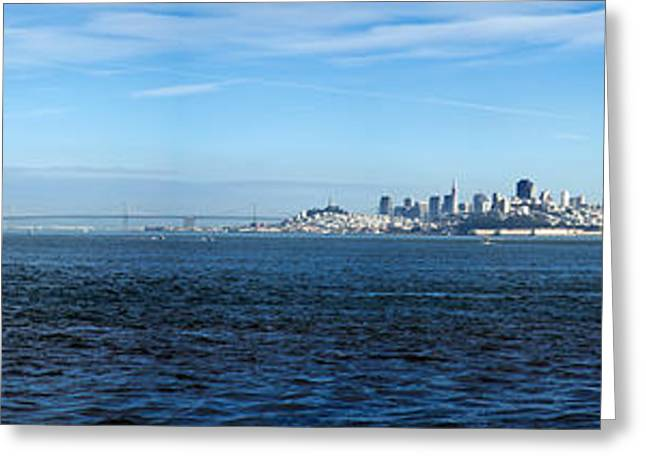 View Of Alcatraz Island And San Greeting Card by Panoramic Images