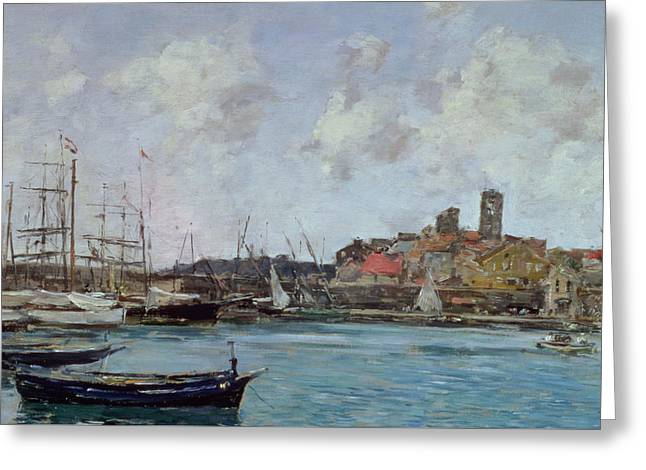 View Of Antibes Greeting Card by Eugene Louis Boudin