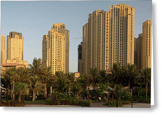 View Of Apartments And Office Buildings Greeting Card by Panoramic Images