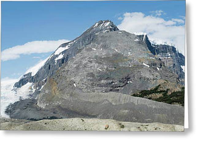 View Of Athabasca Glacier Greeting Card by Panoramic Images