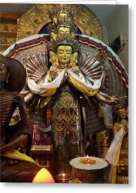 View Of Avalokiteshvara Bodhisattva Greeting Card by Panoramic Images