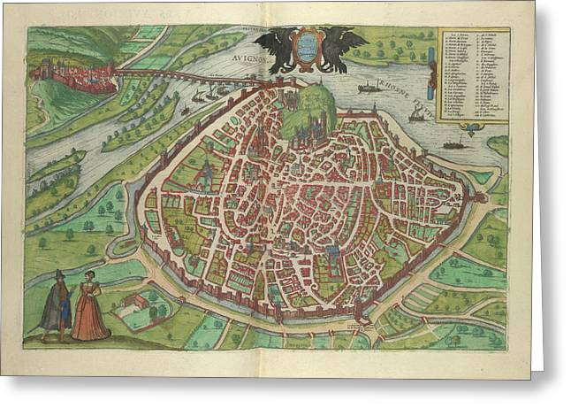 View Of Avignon Greeting Card by British Library