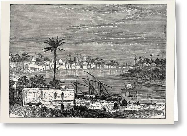 View Of Baghdad. Capital Of The Republic Of Iraq Greeting Card by Litz Collection