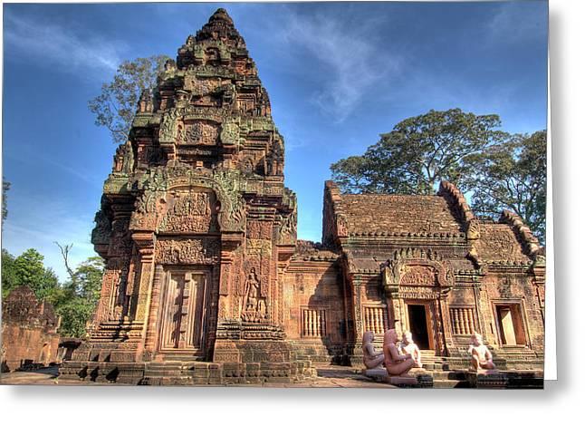 View Of Banteay Srei, Angkor, Siem Reap Greeting Card by Jaynes Gallery