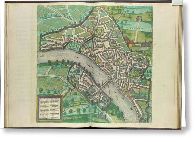 View Of Basle Greeting Card by British Library