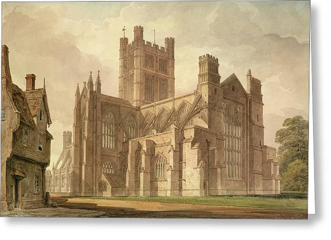 View Of Bath Abbey Greeting Card by British Library
