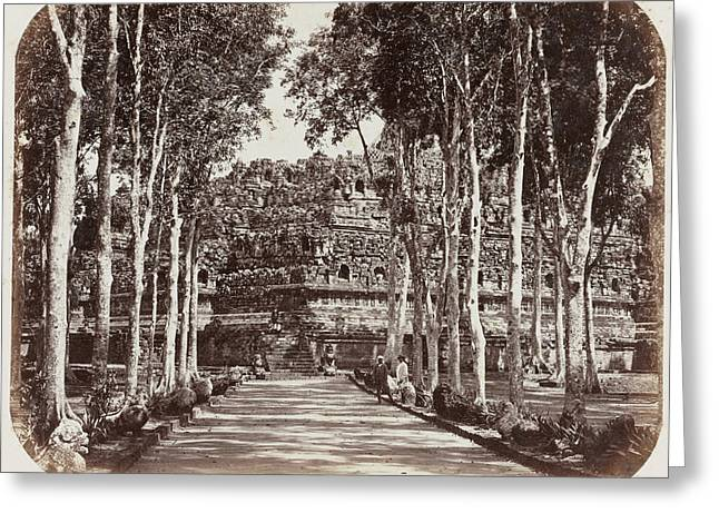 View Of Borobudur Indonesia, Woodbury & Page Greeting Card