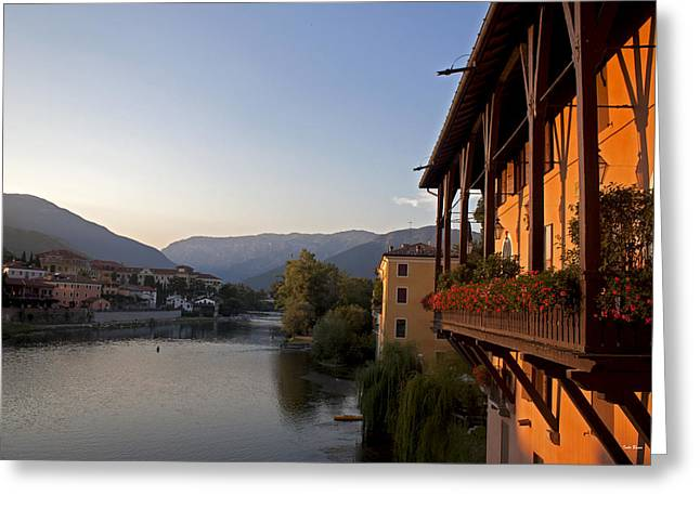 View Of Brenta River Greeting Card