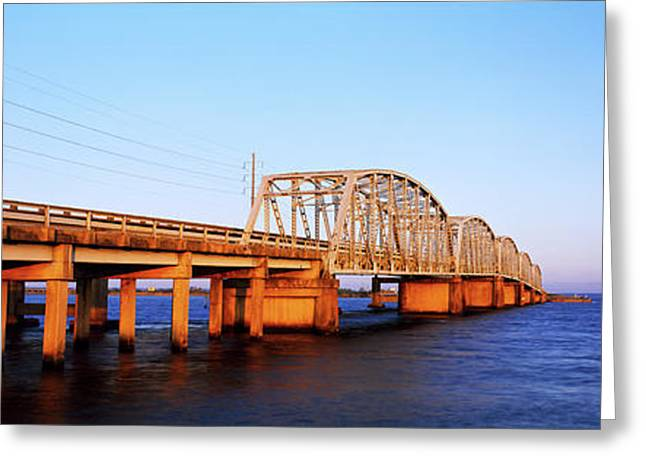 View Of Bridge Over Mobile Bay Greeting Card by Panoramic Images