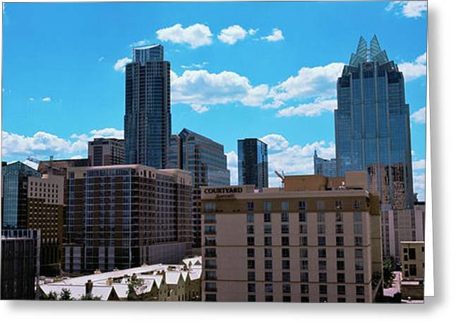 View Of Buildings In Austin, Texas, Usa Greeting Card by Panoramic Images