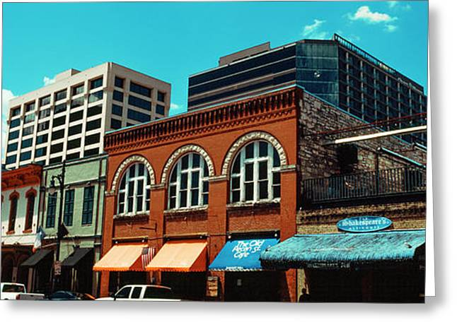 View Of Buildings On 6th Street Greeting Card by Panoramic Images
