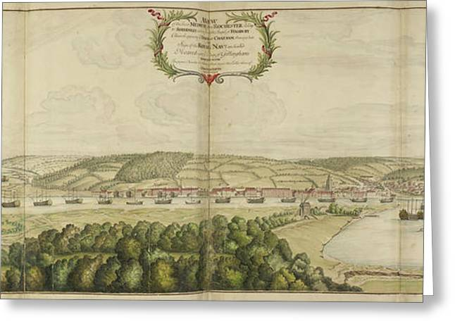 View Of Chatham Greeting Card by British Library
