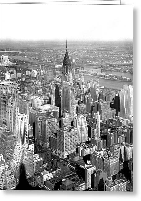View Of Chrysler Building Greeting Card by Underwood & Underwood