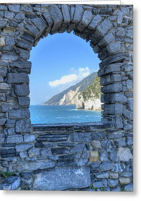 View Of Cinque Terre From Portovenere Greeting Card