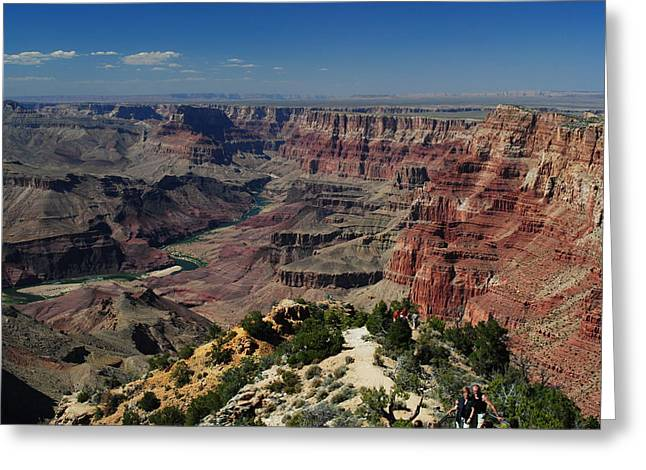 Greeting Card featuring the photograph View Of Colorado River At Grand Canyon by Robert  Moss