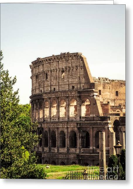 View Of Colosseum Greeting Card