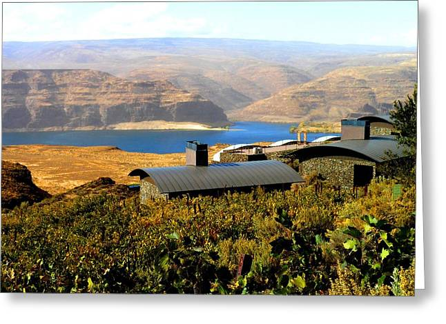View Of Columbia River Greeting Card by Kay Gilley