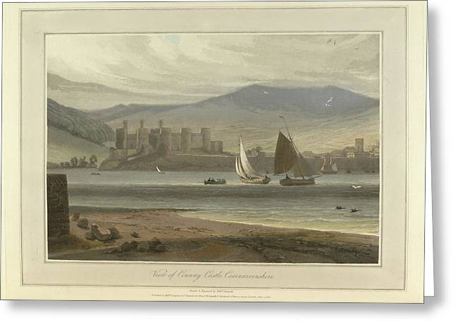 View Of Conwy Castle In Caernarvonshire Greeting Card by British Library